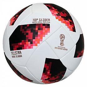Bóng đá World Cup TELSTAR 2018 số 5 (Màu đỏ trắng) - tặng kim bơm bóng + lưới đựng bóng