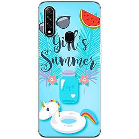 Ốp lưng dành cho Oppo A31 (2020) mẫu Girl Summer