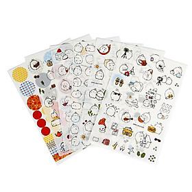 Sticker Dán Trang Trí Molang và Piu Piu ( Trang Trí Sổ Kế Hoạch, Sổ Nhật Ký) | Nhiều Mẫu
