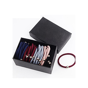 Hình đại diện sản phẩm Sét 40 dây buộc tóc xuất Hàn 1 hạt HD08 hộp giấy đen