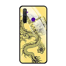 Ốp lưng kính cường lực cho điện thoại Realme 5 Pro - 0224 DRAGON04 - Hàng Chính Hãng