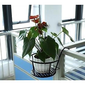 [ComBo 5] Giỏ treo chậu hoa ban công bằng sắt  TVS-(tặng mèo chiêu tài may mắn)