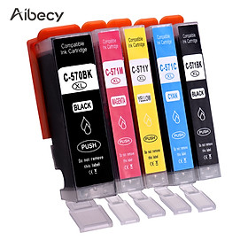 Aibecy Ink Cartridges Replacement for Canon PGI-570 CLI-571XL 570XL 571XL Compatible with Canon PIXMA MG5700 MG5750