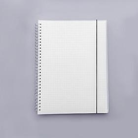 Sổ lò xo bìa trong suốt giấy kẻ ô vuông cỡ B5