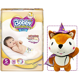 Tã Quần Cao Cấp Bobby Extra Soft Dry S70 (70 mếng) - Tặng 1 cáo bông xinh xắn