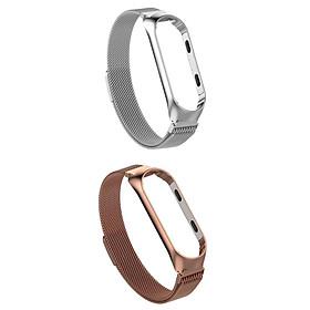 For  Mi Band 3/4 Smart Bracelet Watch Band Strap Metal Wrist 2x