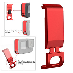 Battery Cover for GoPro  9 Black, Removable Replacement Side Door Mount Clip with Charging Port Space, Convenient for Charging