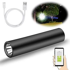 Đèn Pin Led Siêu Sáng Mini Có Sạc USB Có Hỗ Trợ Sạc Dự Phòng Lại Cho Điện Thoại Khẩn Cấp - Hàng Chính Hãng