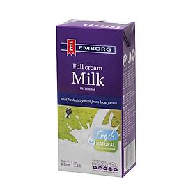 Sữa tươi nguyên chất tiệt trùng nguyên kem hiệu Emborg 1l
