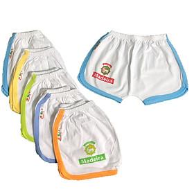 Combo 10 quần đùi trắng viền màu thể thao cho bé SUSU