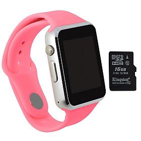 Đồng hồ thông minh A1 tặng thẻ nhớ 16GB (Hồng)