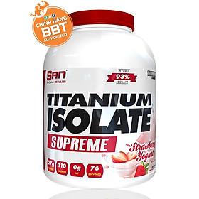 [Chính hãng BBT] S.A.N Titanium Isolate Supreme - Whey Protein Hydrolyzed Siêu Tinh Khiết Hàm Lượng Cao