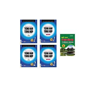 bộ sách 4 cuốn  : Tiếng  hàn tổng hợp sơ cấp 1 ( 1 màu ) và sách bài tập -Tiếng hàn tổng hợp sơ cấp 2 ( 1 màu ) và sách bài tập  tkèm sổ tay tiếng hàn trình độ B hay C