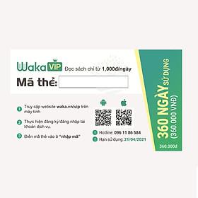 Thẻ đọc sách ebook Waka VIP 360 ngày sử dụng