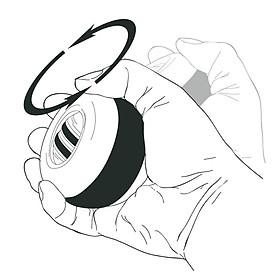 Wrist Ball Forceball Novelty LED PVC Pastime Relax Stress-8