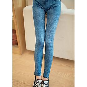 Quần legging giả jean nữ hoa tuyết MS275
