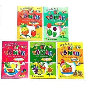 Combo 5 Cuốn Bé Tập Làm Họa Sĩ - Bé Tô Màu (Phiên Bản Song Ngữ Việt -Anh dành cho bé 4-6 tuổi)