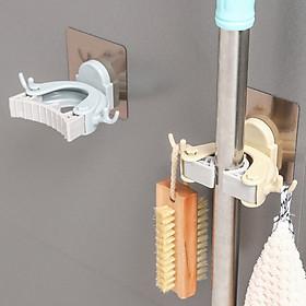 Bộ 2 Móc Dán Tường Đa Năng Treo Cây Lau Nhà, Chổi, Đồ Dùng Phòng Tắm MDTCLN001