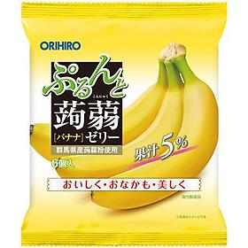 Combo 6 gói Thạch trái cây Orihiro vị Chuối 120gr