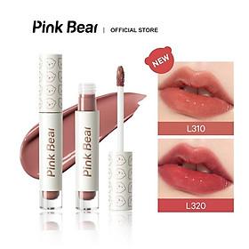 Son kem Pink Bear Glass Shine Lip Gloss Liquid Hydrating Long-lasting 2.5g