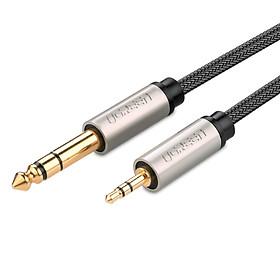 Dây âm thanh 3.5mm đực sang 6.5mm mạ vàng 24k cao cấp dài 1.5M UGREEN AV127 10627 - Hãng phân phối chính thức