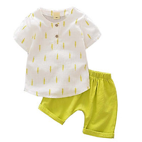 New Summer Baby Infant Clothes Baby Clothes Cotton Short Sleeve Cartoon Baby Boy 2PCS Clothes Set