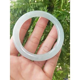 Vòng cẩm thạch loại A, 5.4cm, bản tròn