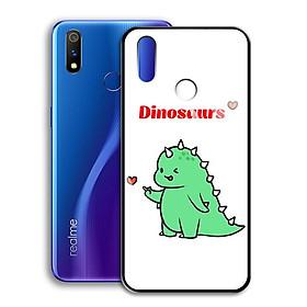 Ốp Lưng Kính Cường Lực cho điện thoại Realme 3 Pro - 0367 7877 DINOSAURS04 - Hàng Chính Hãng