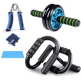 Bộ dụng cụ 5 món tập cơ tay, bụng, hít đất, con lăn - Tập thể dục thể thao toàn diện tại nhà