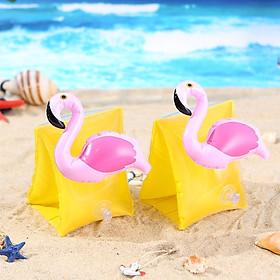 Phao tay tập bơi trẻ em hình hồng hạc