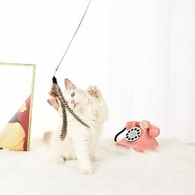 Đồ Chơi Cho Mèo Nhựa Mèo Con Gậy Tương Tác Vui Nhộn Cần Câu Mèo Trò Chơi Đũa Lông Dính Đồ Chơi Hình Thú Cưng Phụ Kiện Mèo