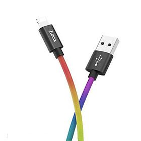 Cáp sạc nhanh Lightning Hoco, hỗ trợ sạc nhanh 3A, dây sạc bọc dù chống rối, chống đứt, dài 100cm dành cho iPhone XS max/iPhone 11/iPhone 11 Pro max, X26 Plus - Hàng chính hãng