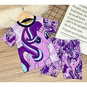 Bộ đồ bé gái chất liệu thun thái vải dày mịn thông thoáng in hình 3D được các bé yêu thích [8-40 Kg]