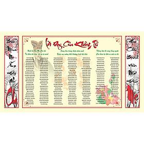 Tranh dán tường Lời dạy của Khổng Tử VTC KT 160 x 90 cm