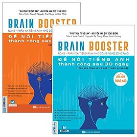 Combo Brain Booster - Nghe Phản Xạ Tiếng Anh Bằng Công Nghệ Sóng Não Để Nói Tiếng Anh Thành Công Sau 30 Ngày (Bộ 2 Cuốn)