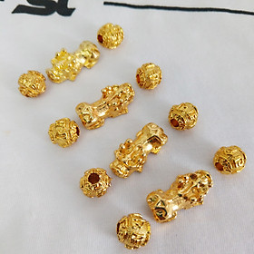 Bộ 4 tùy hưu và 8 viên châu - Tùy hưu làm vòng đeo tay