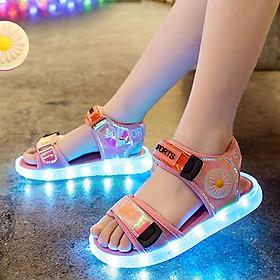 Giày sandal phát sáng đèn LED sạc USB thông minh cho bé gái 3 - 12 tuổi SG39