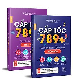 Combo sách CẤP TỐC 789+ Môn Hoá & Anh -  Tổng Ôn Toàn Diện Kiến Thức Thi THPTQG - Nắm chắc kiến thức trọng tâm hay thi nhất