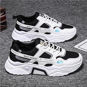 Giày nam, giày sneaker thể thao nam phản quang tăng chiều cao đế đôn 5cm mẫu mới phong cách trẻ QA346