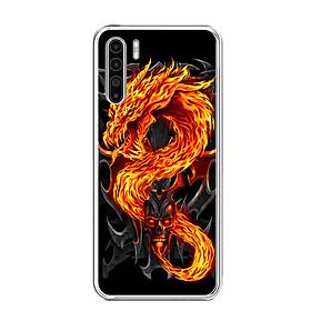 Ốp lưng dẻo cho điện thoại RENO3 - 0218 FIREDRAGON - Hàng Chính Hãng