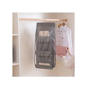 Túi Treo Giỏ Xách Trong Tủ Quần Áo, Phòng Ngủ I Túi 3 Tầng, 6 Ngăn Tiên Lợi, Đa Năng