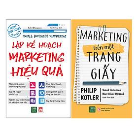 Combo Marketing Trên Một Trang Giấy + Lập Kế Hoạch Marketing Hiệu Quả ( 2 Cuốn )
