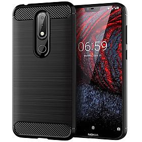 Ốp Lưng Dẻo Dành Cho Nokia 6.1 Plus X6 2018 Vân Xước Chống Sốc - Hàng Chính Hãng