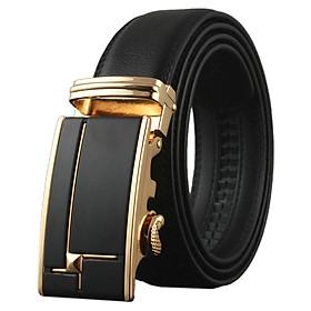 Thắt lưng nam cao cấp AT Leather P110 - Đen