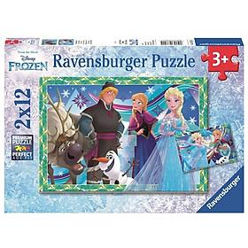 Bộ Xếp Hình Ravensburger Puzzle Jeux D'Hiver RV076215 (2 Bộ 12 Mảnh Ghép)