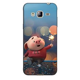 Ốp lưng nhựa cứng nhám dành cho Samsung Galaxy J3 2016 in hình Heo Pháo Bông