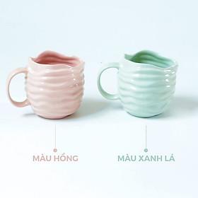 Ly sứ màu Pastel ocean sóng nước 600ml / Cốc sứ màu Pastel Ocean lượn sóng - Pastel porcelain cup