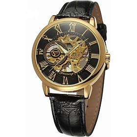 Đồng hồ cơ nam Forsining Handwinding H099M DÂY DA lộ máy - Fullbox chính hãng