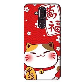 Ốp lưng dành cho điện thoại Nokia 8.1 Mèo May Mắn Mẫu 4