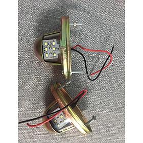bộ Đèn 6 led soi biển số - Vỏ kim loại - Điện 24V dành cho xe tải